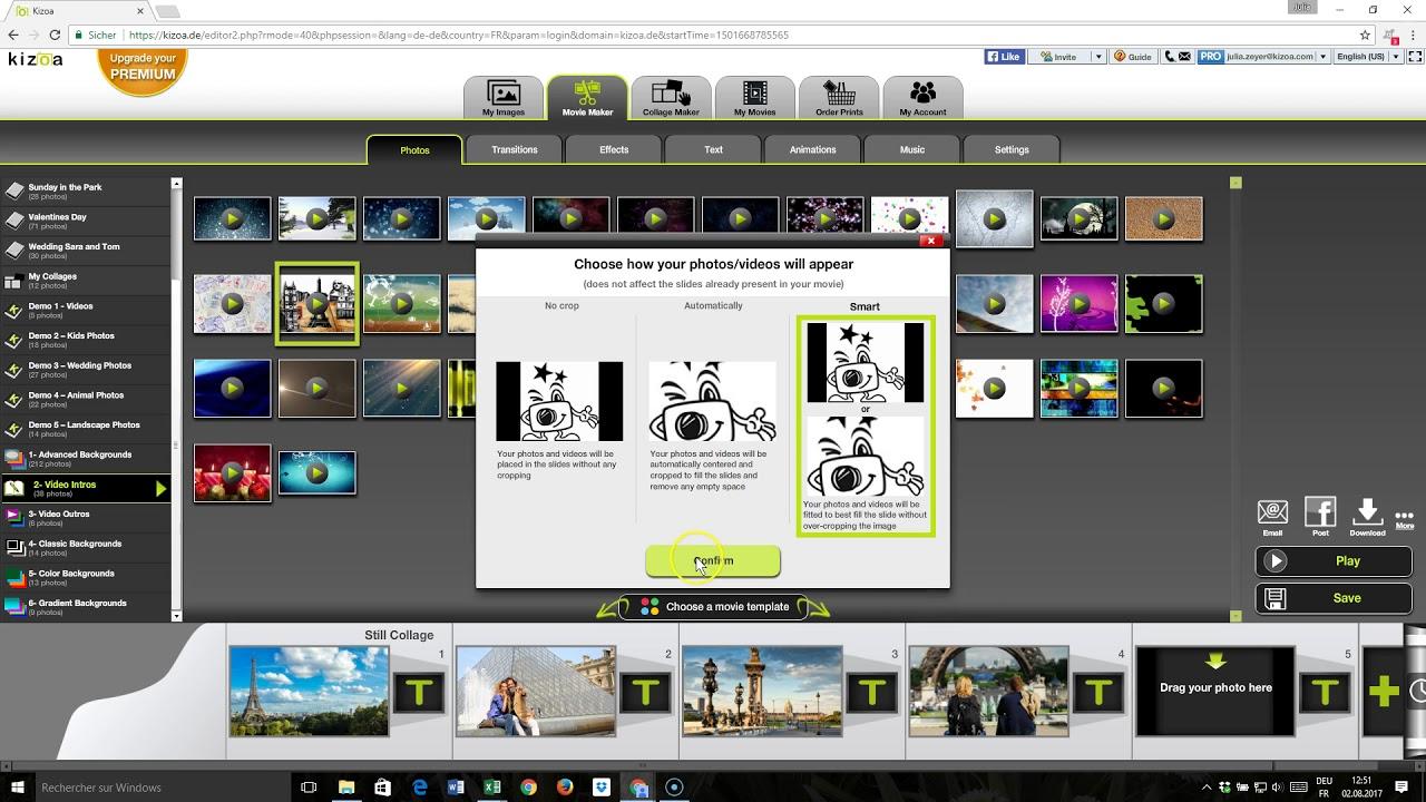 A Kizoa ingyenes online videószerkesztő, egyszerre hatékony és könnyen használható
