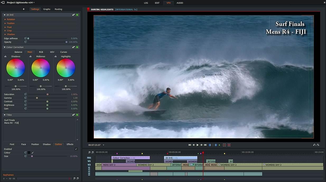 A Lightworks az egyik legfejlettebb ingyenes videószerkesztő eszköz.