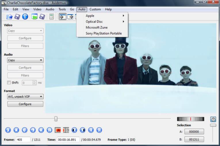 Avidemux - Ingyenes videószerkesztő a Windows 10/7/8 rendszerhez