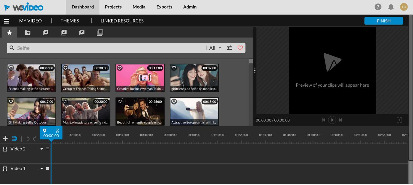 Az online szerkesztés a WeVideo segítségével gyorsabb és egyszerűbb