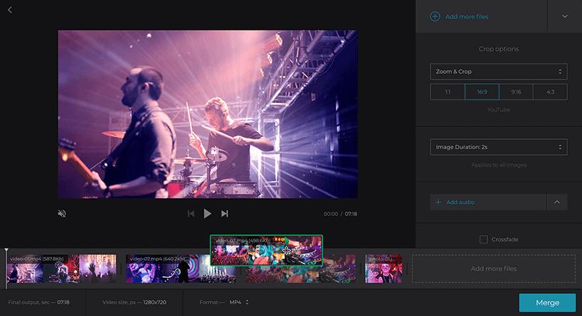 Clideo Online Video szerkesztő