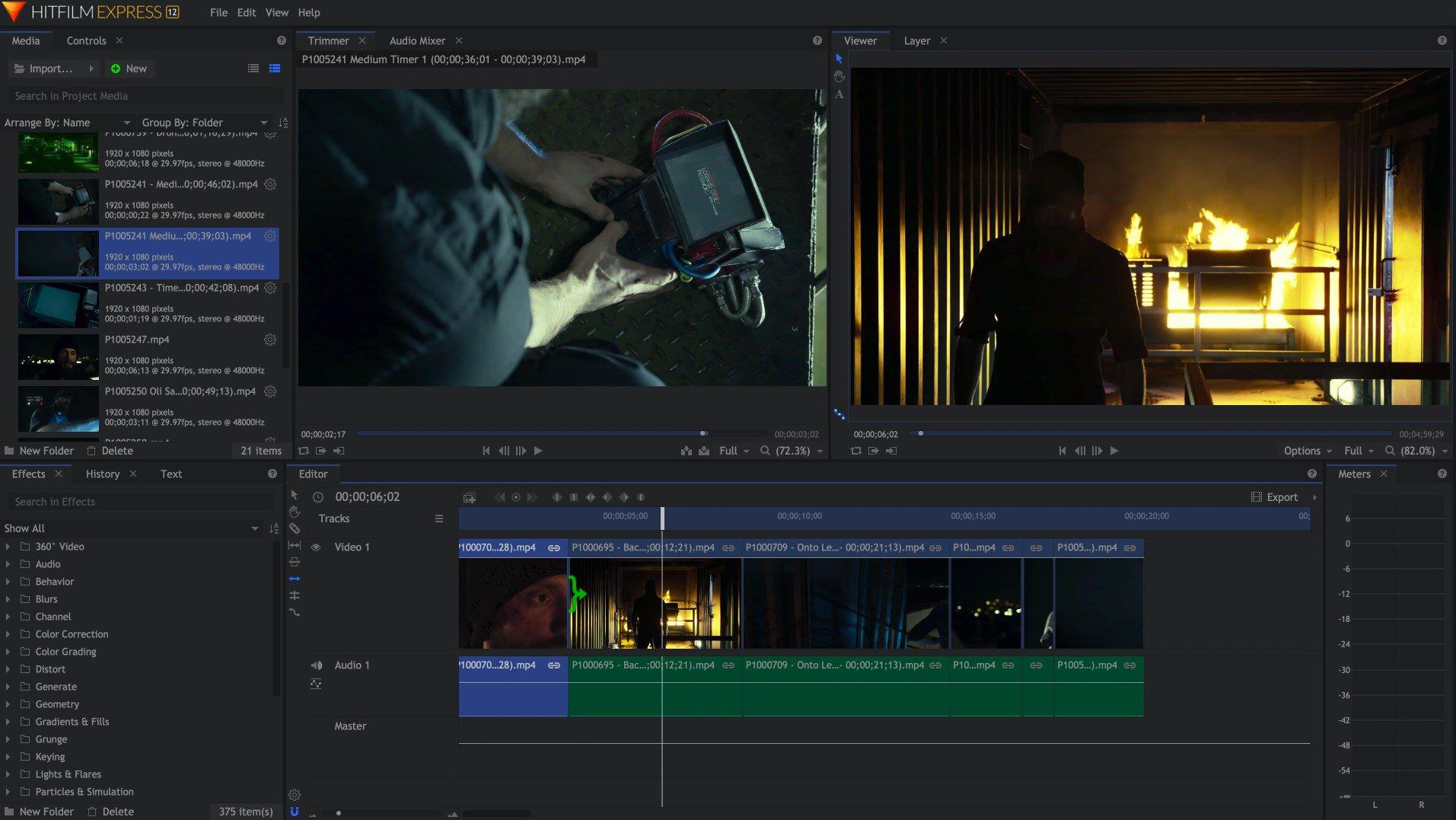 HitFilm Express - népszerű ingyenes videó szerkesztő és filmszerkesztő, illetve zeneszerző