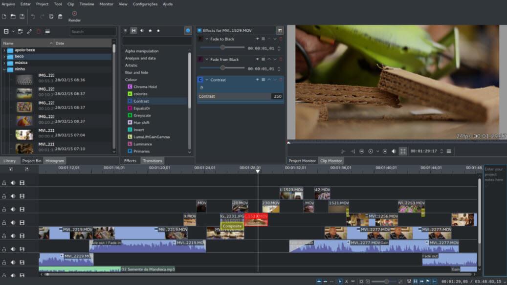 Kdenlive - Ingyenes és nyílt forráskódú videószerkesztő szoftver