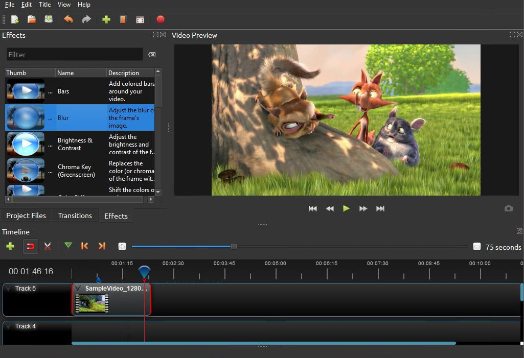 OpenShot - Open Source video szerkesztő