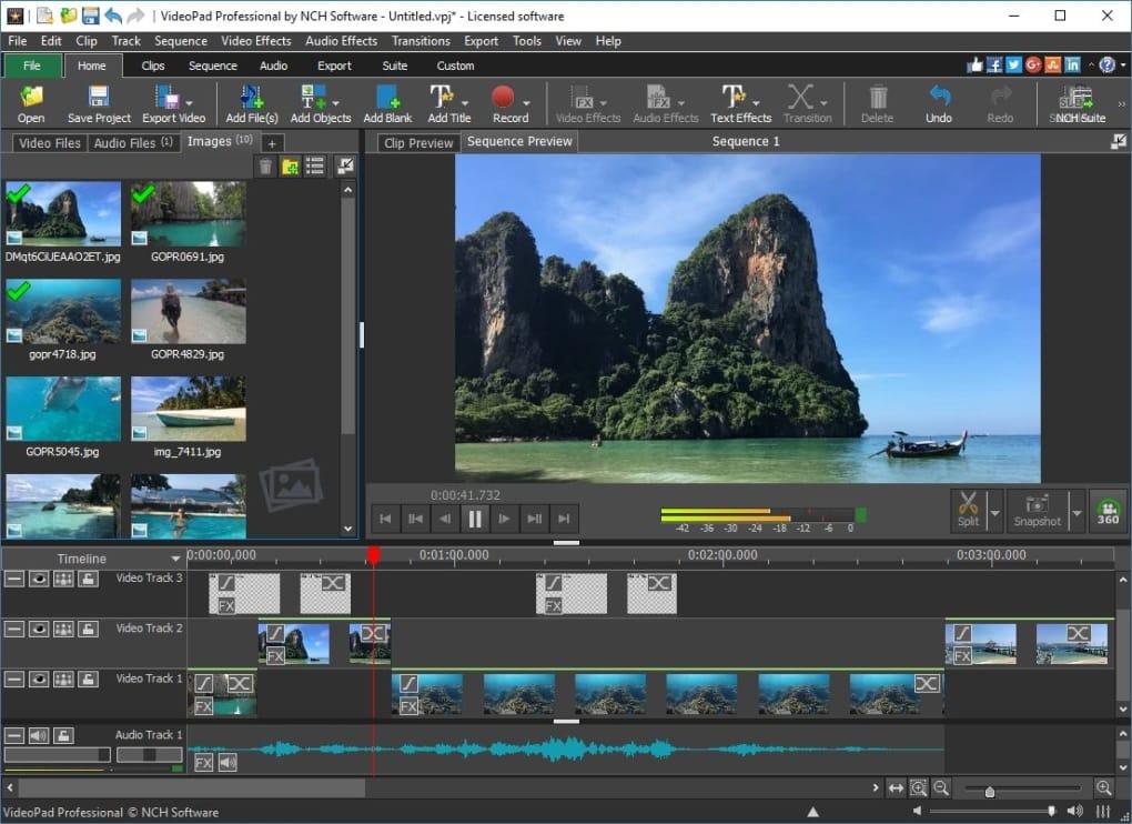 VideoPad ingyenes videó készítő program